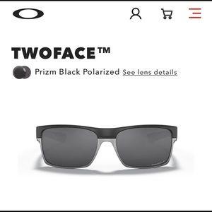 Oakley TwoFace Steel w/PRIZM polarized sunglasses